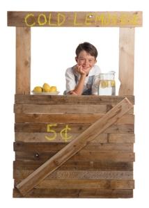 Smallholder selling lemons