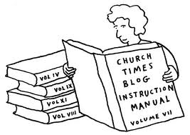 Church Times blog instructions