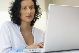 Marketeer at laptop