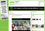 Asda's enhanced Twitter page